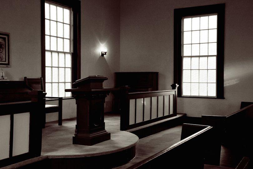 interior union church bw