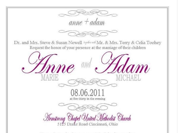 Tmx 1294934176640 WEDDINGSAMPLE Wadesville wedding invitation