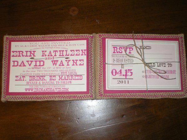 Tmx 1294934230671 Erin2 Wadesville wedding invitation