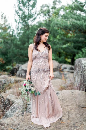 Interstate Park bridal session by Fargo + Fergus Falls wedding photographer Two Birds Photography -...