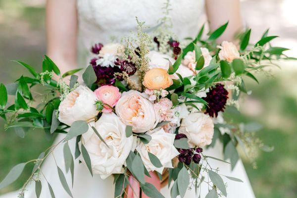 Floret and Foliage bouquet by Fargo + Fergus Falls wedding photographer Two Birds Photography -...