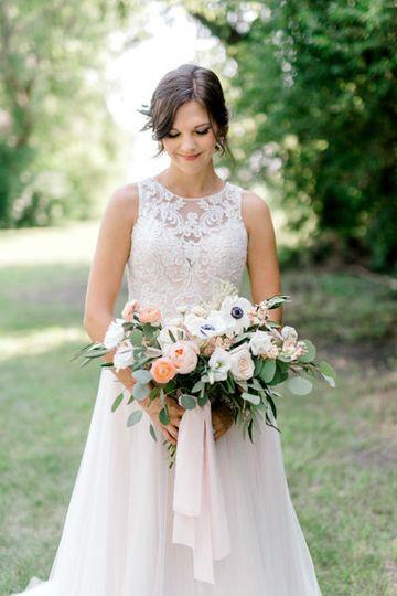 Backyard wedding with Love Always Floral by Fargo + Fergus Falls wedding photographer Two Birds...