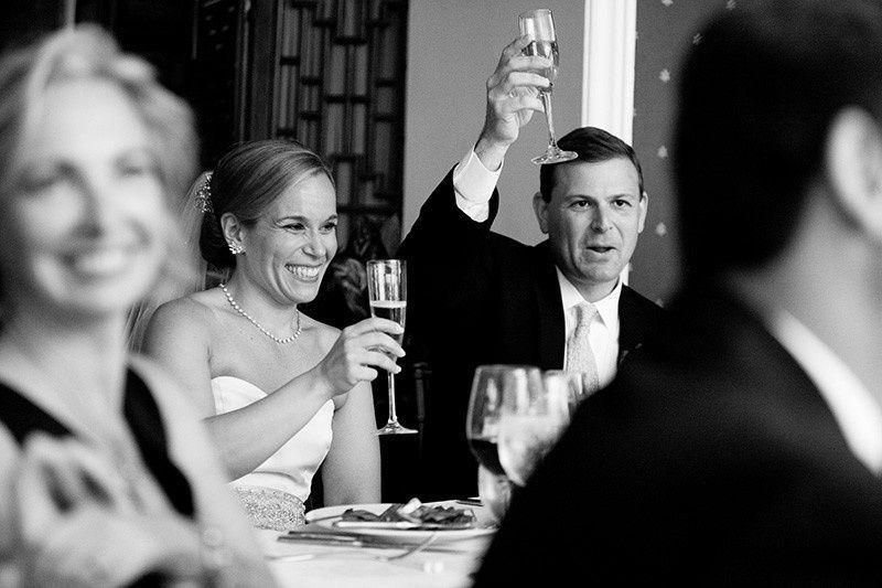 Couple toast