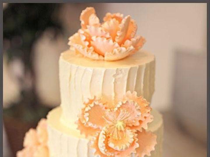 Tmx 1390003448943 Cake With Peach Flower Lexington wedding cake