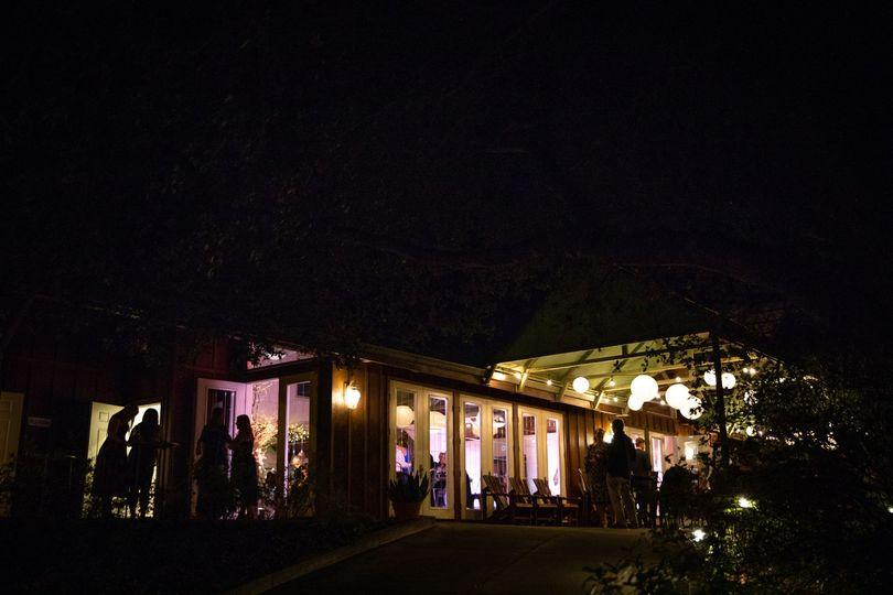 Winery at night