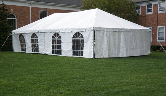 20x40 Deluxe Frame Tent with sidewalls