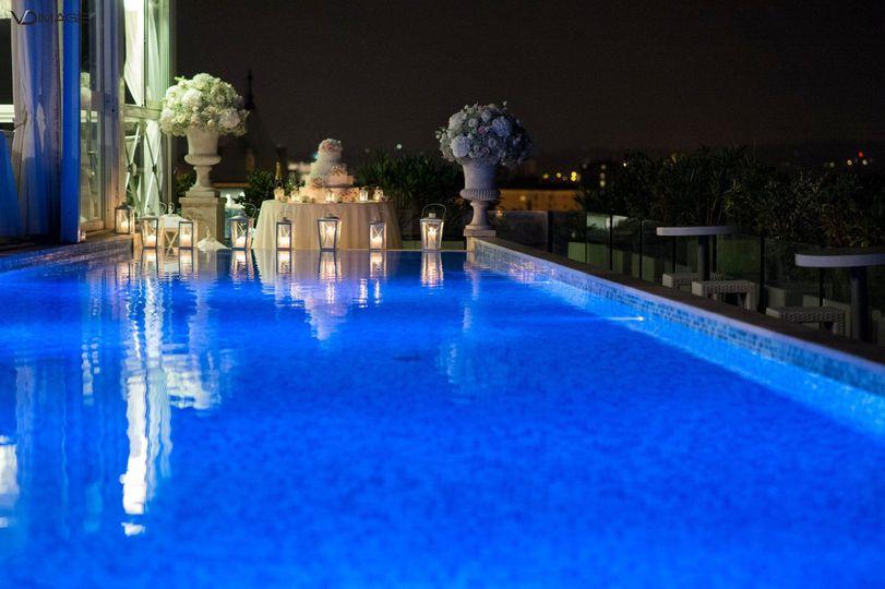 roof garden boscolo exedra piscina