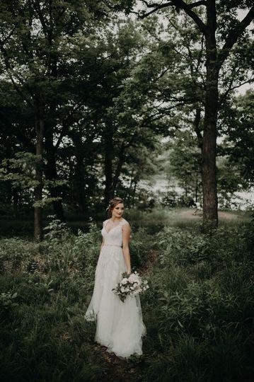 Bridal outdoor photoshoot