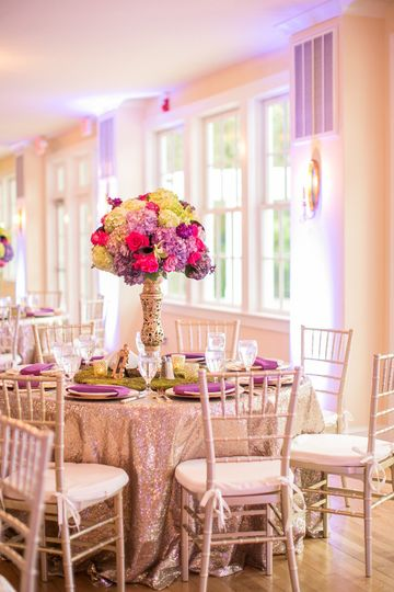 gold pink purple womans club portsmouth wedding ob
