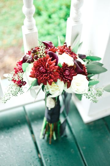 Red and white flowers | Photo provided by Poured Out Photography