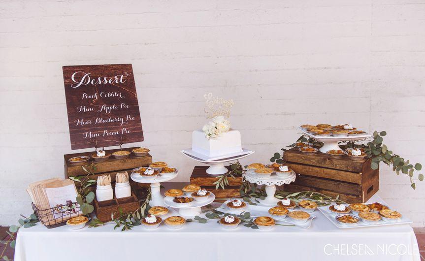 Wedding cake and bars