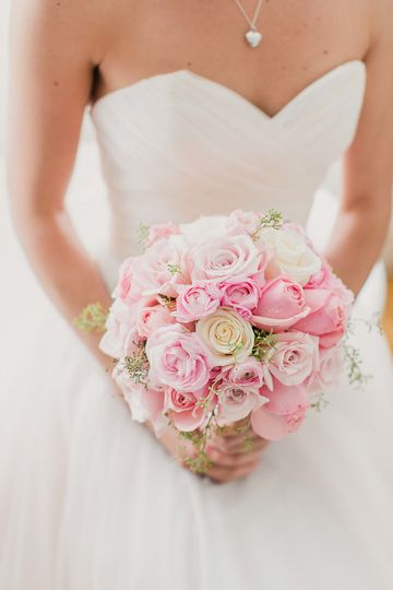 Blush pink and ivory