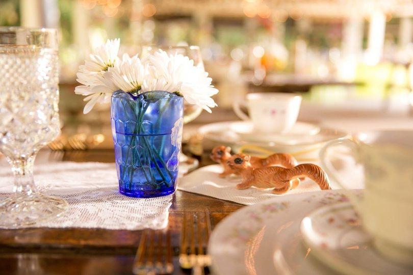 whimsical salt & pepper shakers and vintage tableware