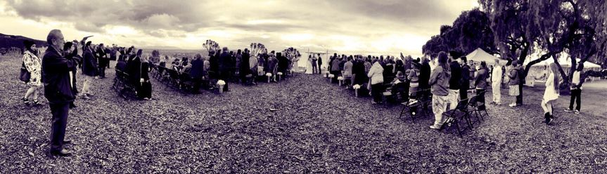 Panoramic shot of the wedding