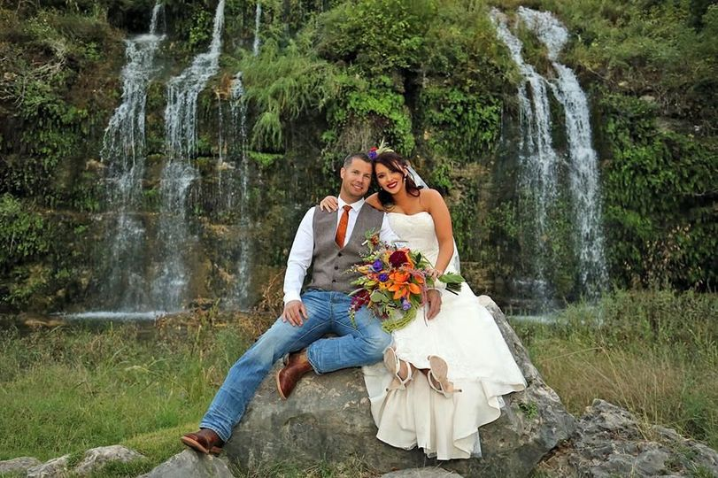 Couple by the waterfalls