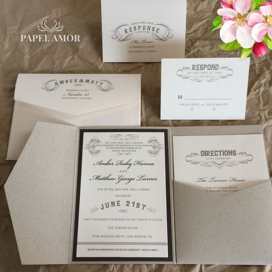 We can address your envelopes with matching fonts and designs matching your cards.