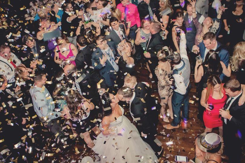 NYE Wedding w/ Confetti