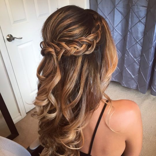Braid and soft curls