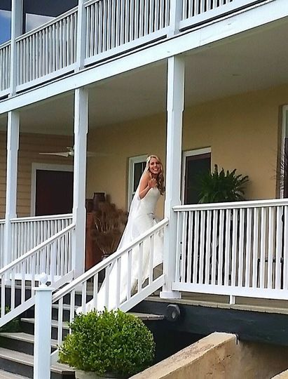 Bride on the porch