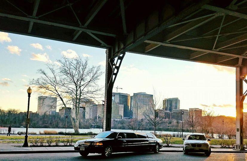 Limo under the bridge