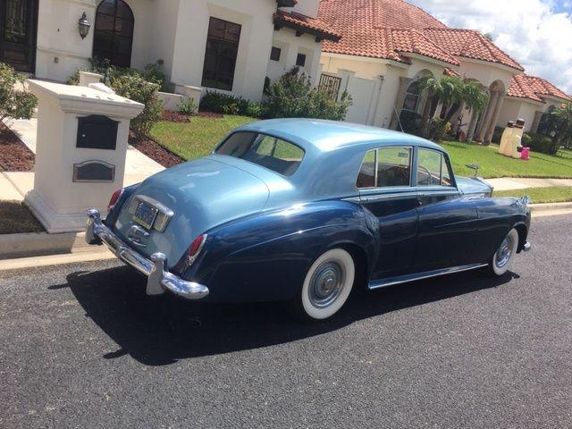 Blue 1957 Rolls Royce