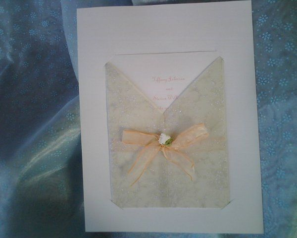 Elegant invitation in a sparkle jacket