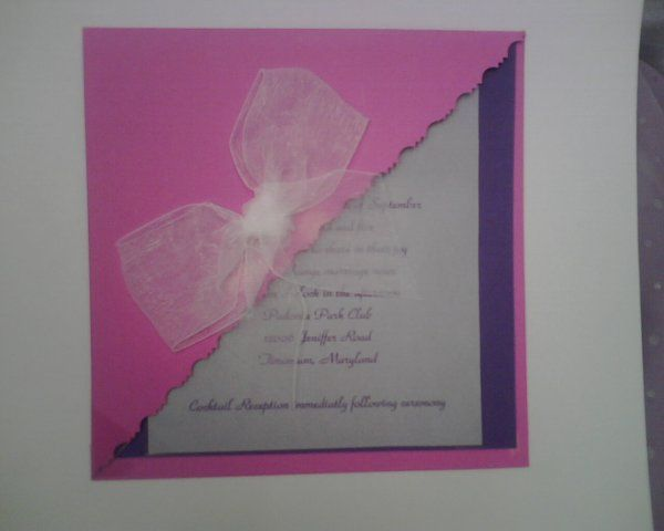 Purple Invitation with a Flap