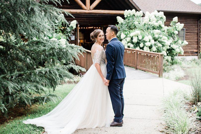 Couple at Main Entrance