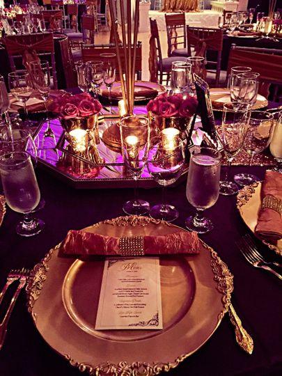 Table setting/Charger plate Le Bam Studio Wedding Design
