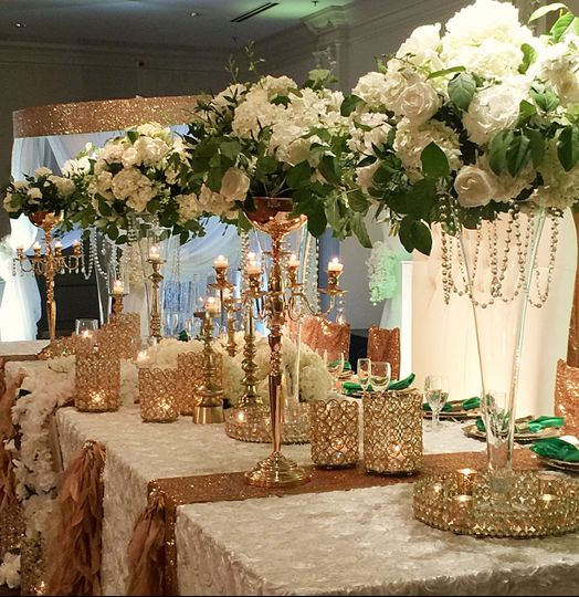 Bridal Party/Head Table at Spring Hall by Le Bam Studio wedding design