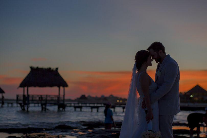 jessica harry beach wedding vidanta riviera maya 0