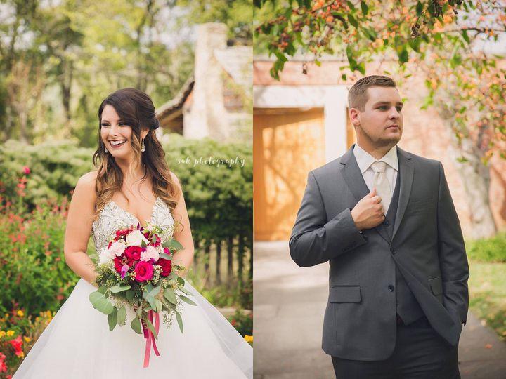 New Harmony Indiana Fall Wedding, Roofless Church