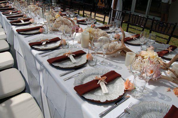 coraldriftwoodseaspongechargerplateshawaiianweddings