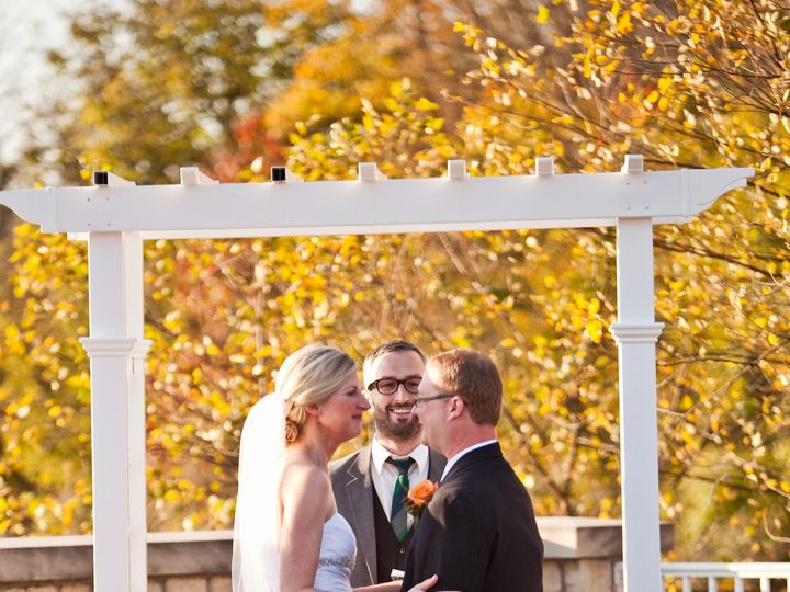 Tmx 1413485198185 Ceremony Patio   Outdoor Ceremony In The Fall Fishers, IN wedding venue