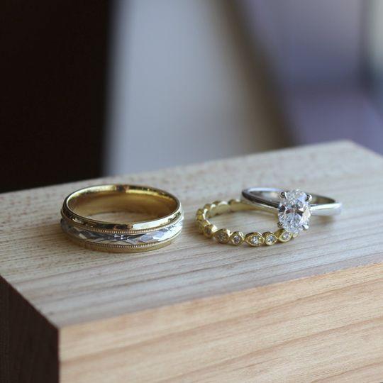 Diamond Ring & Wedding Bands