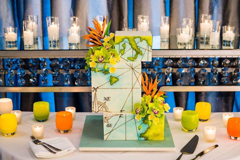 awesome nautical wedding cak