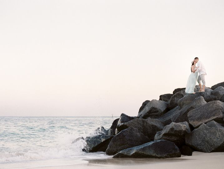 ft lauderdale beach florida engagement session mel