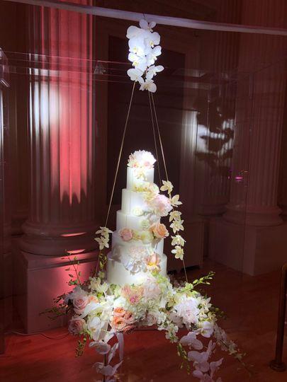 Amazing suspended cake