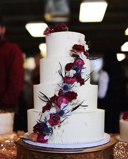4-Tier Cascading Flower Cake