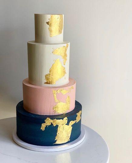 4-Tier Gold Wedding Cake