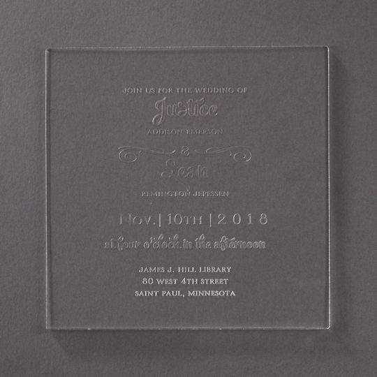 Acrylic Engraved Invitations
