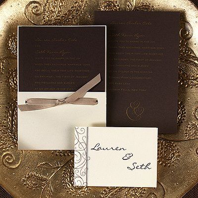 Tmx 1258143785086 F12387PlrSimplyMocha Lodi, New Jersey wedding invitation
