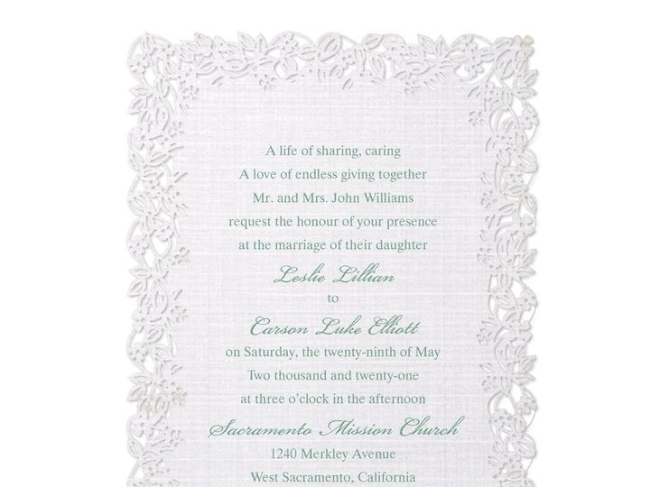 Tmx Linen Love Invitation 51 175610 Lodi, New Jersey wedding invitation