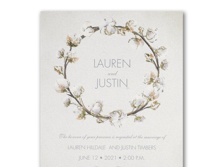 Tmx Natural Cotton Invitation 51 175610 V1 Lodi, New Jersey wedding invitation