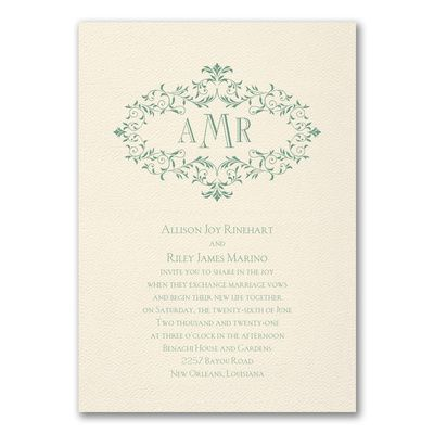 Tmx Wreath Of Filigree Invitation 51 175610 Lodi, New Jersey wedding invitation