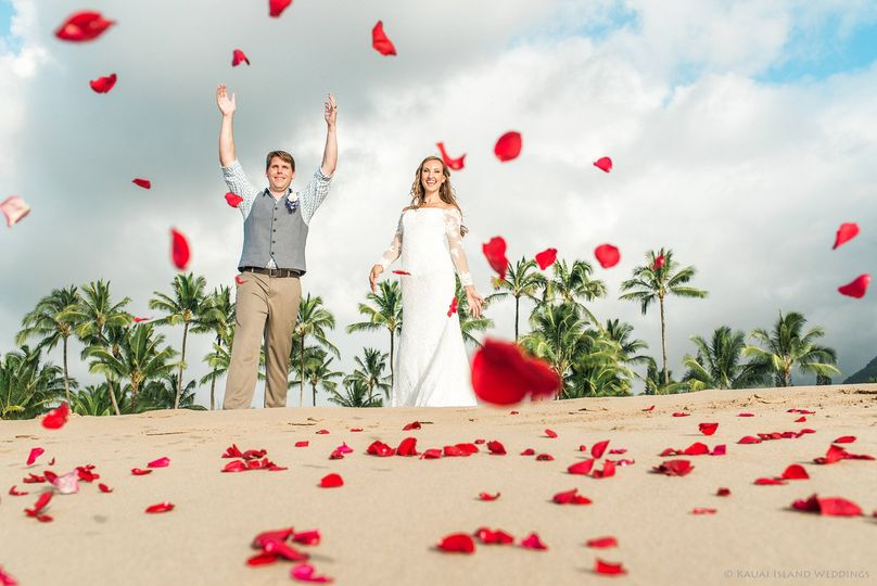 Hawaiian petal toss.