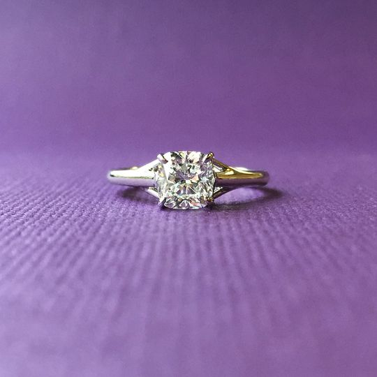 engagement ring cushion solitaire dallas