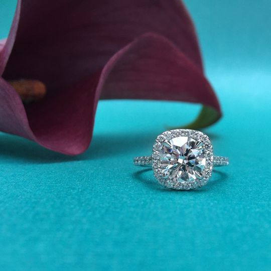 round halo diamond ring dallas tx