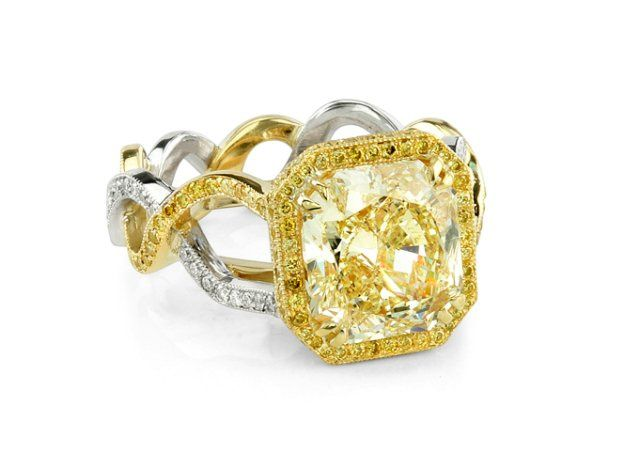 Tmx 1359579571862 QFancyYellowHaloShapiroDiamonds6258 Dallas wedding jewelry