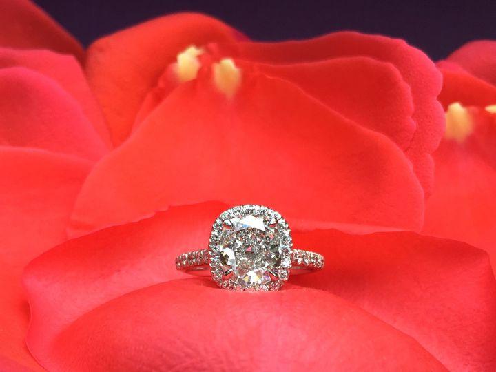 Tmx 1445271234647 Diamond Halo Ring Dallas Dallas wedding jewelry